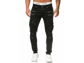 ZIPPER BLACK JEANS